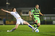Forest Green Rovers Liam Noble(15) runs forward during the Vanarama National League match between Forest Green Rovers and Tranmere Rovers at the New Lawn, Forest Green, United Kingdom on 22 November 2016. Photo by Shane Healey.