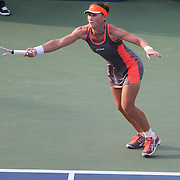 Sam Stosur, Australia, in action against  Laura Robson, Great Britain, during the US Open Tennis Tournament, Flushing, New York. USA. 2nd September 2012. Photo Tim Clayton