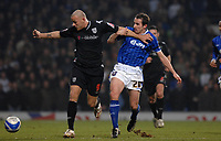 Photo: Ashley Pickering/Sportsbeat Images.<br /> Ipswich Town v West Bromwich Albion. Coca Cola Championship. 01/01/2008.<br /> Roman Bednar of WBA (L) holds off Ipswich goal scorer David Wright