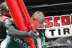 June 22, 2018 - Sonoma, CA, U.S. - SONOMA, CA - JUNE 22: A crew member for Stewart-Haas Racing fuels the car in between practice sessions of the Monster Energy NASCAR Cup Series - Toyota/Save Mart 350 at Sonoma Raceway in Sonoma, CA. (Photo by Larry Placido/Icon Sportswire) (Credit Image: © Larry Placido/Icon SMI via ZUMA Press)