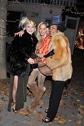 Left to right, VICTORIA GRANT, SARA HERSHAM LOFTUS and GISELA TORRES at a party to celebrate the publication of Seductive Interiors by Sara Hersham Loftus at Julie's, 135 Portland Road, London W11 on 15th November 2012.