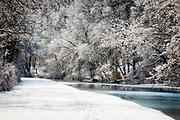Newly fallen snow, Delaware River Canal, Pennsylvania