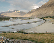 View of the Wakhan Corridor from the ruins of the fort, leftovers from the Silk Road.  The traditional life of the Wakhi people, in the Wakhan corridor, amongst the Pamir mountains.