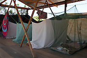 Alianza Arkana workers accommadation whilst working on research projects in the village of Dinomarko.