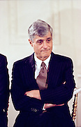 US Treasury Secretary Robert Rubin during an event on Social Security February 17, 1999 at the White House in Washington, DC.