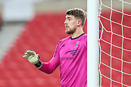 Portrait of Lincoln City goalkeeper Alex Palmer (1) during the EFL Trophy semi-final match between Sunderland and Lincoln City at the Stadium Of Light, Sunderland, England on 17 February 2021.