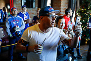 SHOT 12/10/17 12:32:43 PM - Former Buffalo Bills wide receiver and Hall of Fame player Andre Reed signs autographs and meets with fans at LoDo's Bar and Grill in Denver, Co. as the Buffalo Bills played the Indianapolis Colts that Sunday. Reed played wide receiver in the National Football League for 16 seasons, 15 with the Buffalo Bills and one with the Washington Redskins. (Photo by Marc Piscotty / © 2017)