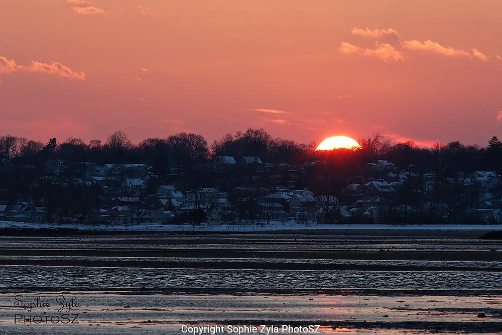 Winter Sunset over Savin Rock