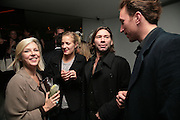 Polly Morgan, Mat Collinshaw and Petroc Sesti, Party hosted by Larry Gagosian at Nobu, Berkeley St. London. 9 October 2007. -DO NOT ARCHIVE-© Copyright Photograph by Dafydd Jones. 248 Clapham Rd. London SW9 0PZ. Tel 0207 820 0771. www.dafjones.com.