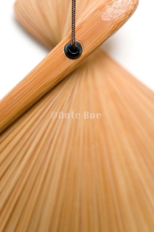 detail of the handle part oriental fan