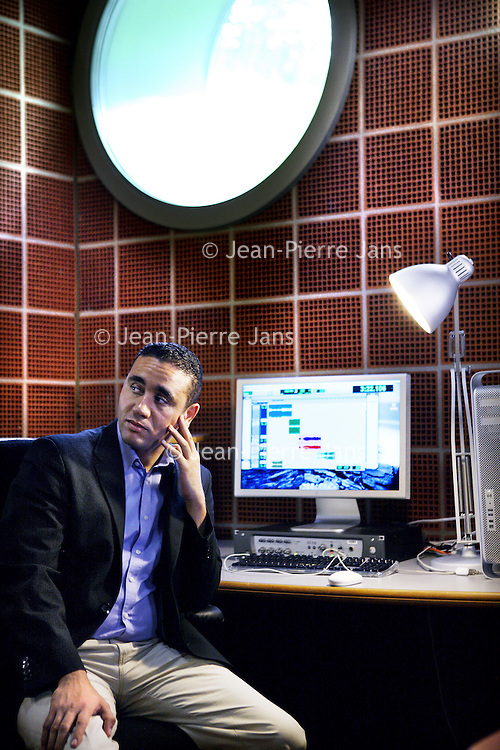 Nederland, Hilversum , 10 september 2014.<br /> Journalist en ex-Arabisch Europese Liga-Ned.voorzitter Abdou Bouzerda. Hij is nu journalist, gespecialiseerd in IS<br /> Foto:Jean-Pierre Jans