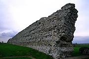 Wall of Roman castle, Richborough,  Kent, England, UK