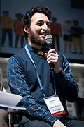 Ben Juarez from Cream City Coders at the Wisconsin Entrepreneurship Conference at Venue 42 in Milwaukee, Wisconsin, Tuesday, June 4, 2019.