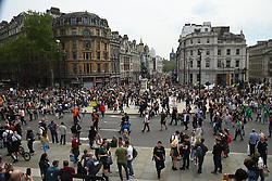 © Licensed to London News Pictures. 29/05/2021. London, UK. Anti-vaccination and anti-lockdown protesters take part in an organised demonstration in central London. Photo credit: Ray Tang/LNP
