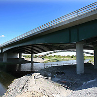 """The bridge on the N85 link road of the Ennis Bypass which is undergoing urgent remedial works after an abutment was found to be moving at a rate """"greater than envisaged"""" by the construction company.<br /> <br /> Photograph  by Eamon Ward<br /> <br /> <br /> <br /> (Pat Flynn is sending in Story)"""