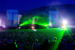 Fat Boy Slim headlines on the main stage. Rockness, Saturday 7th June 2008..Pic © Michael Schofield. All Rights Reserved.