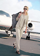 Jane just landed in her private plane on the Boca Raton Executive airport; shot for Charles Keath.