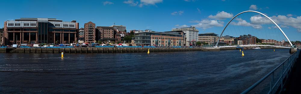 Millenium Bridge and Newcastle quayside