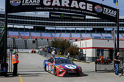 November 2, 2018 - Fort Worth, TX, U.S. - FORT WORTH, TX - NOVEMBER 02: Monster Energy NASCAR Cup Series driver Timmy Hill (66) drives through the garage area during practice for the AAA Texas 500 on November 02, 2018 at the Texas Motor Speedway in Fort Worth, Texas. (Photo by Matthew Pearce/Icon Sportswire) (Credit Image: © Matthew Pearce/Icon SMI via ZUMA Press)