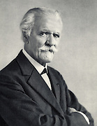 (Paul Marie Theodore) Vincent D'Indy (1851-1931) French composer.  From a photograph.