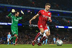 Jamie Paterson of Bristol City and Claudio Bravo of Manchester City - Mandatory by-line: Matt McNulty/JMP - 09/01/2018 - FOOTBALL - Etihad Stadium - Manchester, England - Manchester City v Bristol City - Carabao Cup Semi-Final First Leg