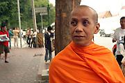 Thailand, Bangkok, Buddhist priest