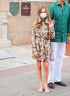 Crown Princess Leonor arrive to National Inn on July 22, 2020 in Merida, Spain
