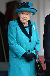 Members of The Royal Family attend The Braemar Royal Highland Gathering, at The Princess Royal and Duke of Fife Memorial Park, Braemar, Aberdeenshire, UK, on the 1st September 2018. 01 Sep 2018 Pictured: Queen, Queen Elizabeth. Photo credit: James Whatling / MEGA TheMegaAgency.com +1 888 505 6342