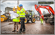 The construction of  a new Care UK care home in Bromsgrove.<br /> Pictured are L-R • Richard Wakeford  Stepnell Construction<br /> • Andrew Brett, Project Manager for Care UK<br /> Picture by Shaun Fellows / Shine Pix