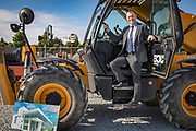 NO FEE PICTURES<br />13/7/18 Irish Life has formally broken ground on its new Customer Centre in Dundalk, Co Louth. The building has been designed by leading Dublin based architects, wejchert Architects and is being delivered by main contractor Stewart Construction. The new site area is 1.6 hectares with an office size of 45,000 sq ft. It is expected that over 200 construction workers will be on site during the construction phase of the project, which will be a significant boost to local employment in the Dundalk Area. Pictured is : David Harney, CEO Irish Life. Picture :Arthur Carron