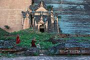 Mingun pagoda bears the scars of earthquake damage, on the Irrawaddy River near Mandalay