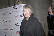 Germaine Greer, Kylie The Exhibition, private view: Victoria & Albert Museum, London, 6 February 2007.  -DO NOT ARCHIVE-© Copyright Photograph by Dafydd Jones. 248 Clapham Rd. London SW9 0PZ. Tel 0207 820 0771. www.dafjones.com.