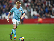 Manchester City midfielder Kevin De Bruyne (17) during the Premier League match between West Ham United and Manchester City at the London Stadium, London, England on 29 April 2018. Picture by Toyin Oshodi.