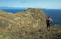 Mission - Monk Seal<br /> Monk Seal (Monachus monachus), Desertas Islands – Deserta Grande - Madeira, Portugal. August 2009. Landscape