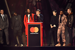 EDITORIAL USE ONLY.<br /><br /> performs on stage at the Brit Awards at the O2 Arena, London.