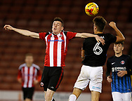 David Parkhouse of Sheffield Utd in action during the U18 Professional Development League 2 play off semi final match at  Bramall Lane, Sheffield. Picture date: April 21st 2017. Pic credit should read: Simon Bellis/Sportimage
