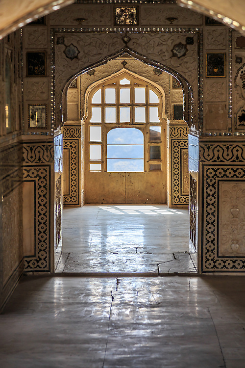 Ornaments in Amer Fort in Jaipur, India.