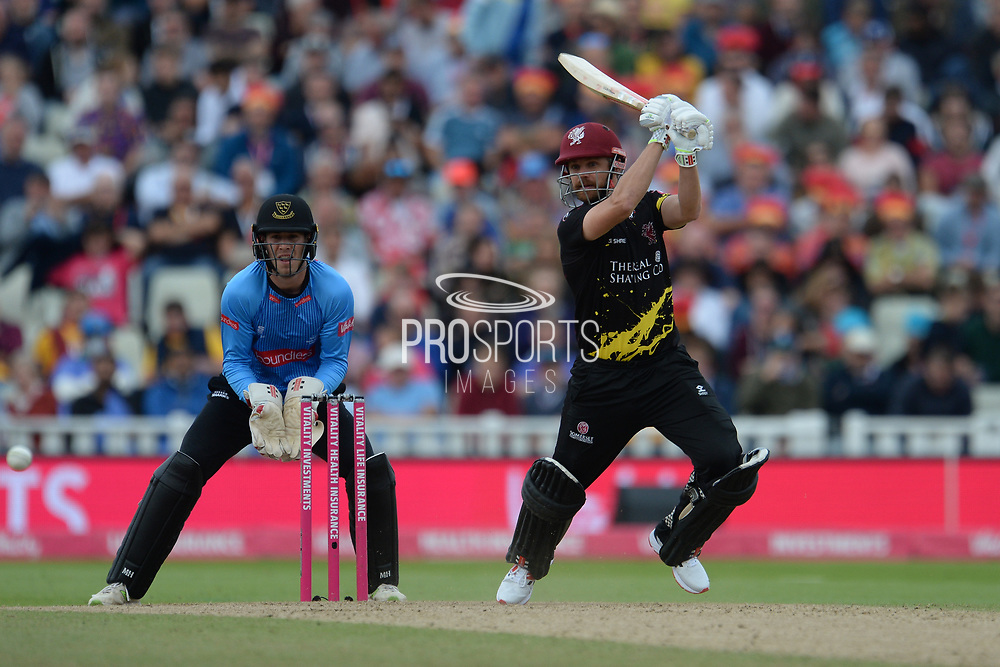 Ollie Robinson of Sussex batting during the Vitality T20 Finals Day semi final 2018 match between Sussex Sharks and Somerset County Cricket Club at Edgbaston, Birmingham, United Kingdom on 15 September 2018.