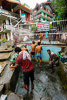 A communal bath at a hot springs, Bashisht, near Manali, Himachal Pradesh, India.