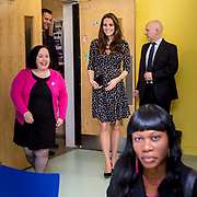 Her Royal Highness The Duchess of Cambridge arriving at  Brookhill Children's Centre in Woolwich to learn more about Home-Start and its support for children and families. London, UK.