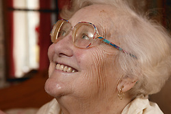 Woman at home receiving homecare for the elderly,