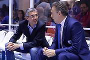 DESCRIZIONE : Brindisi  Lega A 2015-16 Enel Brindisi Pasta Reggia Juve Caserta<br /> GIOCATORE : Fernando Marino Piero Bucchi<br /> CATEGORIA : Before Pregame Allenatore Coach Fair Play<br /> SQUADRA : Enel Brindisi<br /> EVENTO : Enel Brindisi Pasta Reggia Juve Caserta<br /> GARA :Enel Brindisi  Pasta Reggia Juve Caserta<br /> DATA : 24/04/2016<br /> SPORT : Pallacanestro<br /> AUTORE : Agenzia Ciamillo-Castoria/M.Longo<br /> Galleria : Lega Basket A 2015-2016<br /> Fotonotizia : <br /> Predefinita :