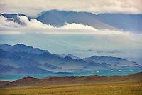 Mongolie, province de Bayan-Ulgii, les montagnes colorées du massif de l'Altai // Mongolia, Bayan-Ulgii province, western Mongolia, the colored mountains of the Altay