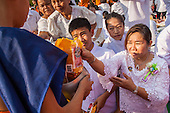 Mass Alms Giving to Support Temples in Southern Thailand
