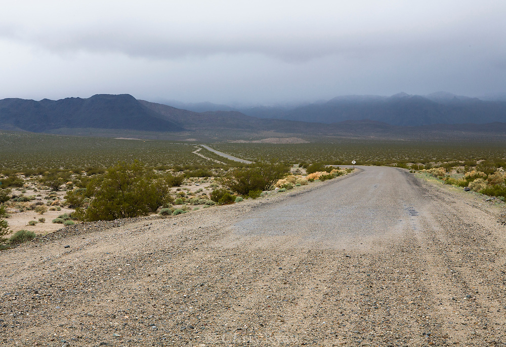 Remote desert highway turns to dirt backroads in California's Death Valley