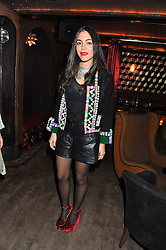 DANA ALIKHANI at a party to celebrate the opening of the Muzungu Sisters Pop Up Store at Momo - an ethically sourced fashion brand  held at Momo, 25 Heddon Street, London on 27th October 2011.