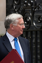 Downing Street, London July 15th 2014. NewDefence Secretary Michael Fallon replaces Phillip Hammond who takes on the role of Foreign Secretary.