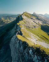 Aerial View of Moutain Range in Entlebuch, Switzerland