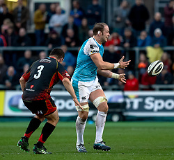 Alun Wyn Jones of Ospreys<br /> <br /> Photographer Simon King/Replay Images<br /> <br /> Guinness PRO14 Round 12 - Dragons v Ospreys - Sunday 30th December 2018 - Rodney Parade - Newport<br /> <br /> World Copyright © Replay Images . All rights reserved. info@replayimages.co.uk - http://replayimages.co.uk