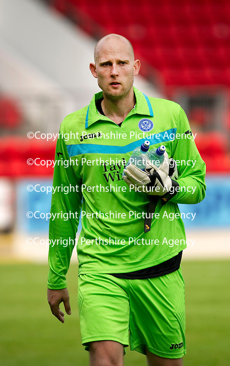 St Johnstone v Real Valladolid....07.08.10  Pre-Season Friendly<br /> Trialist keeper Peter Enckelman<br /> Picture by Graeme Hart.<br /> Copyright Perthshire Picture Agency<br /> Tel: 01738 623350  Mobile: 07990 594431